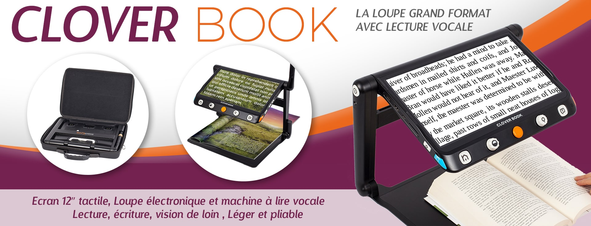 La loupe électronique grand format CLOVER BOOK