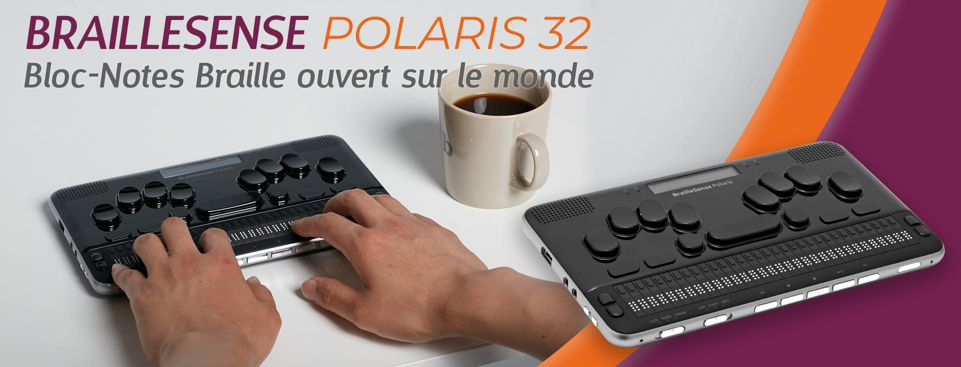 Bloc Note Braille Sense Polaris 32 par VISIOLE