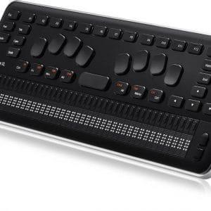 Plage Braille QBraille XL au clavier hybride Perkins