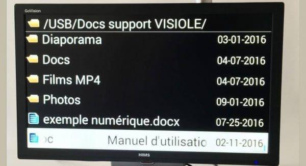 Lecture des fichiers numériques avec le GoVision