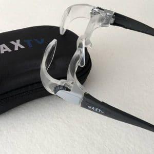 lunettes loupe Max TV et sa housse
