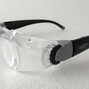 molettes des lunettes loupes max TV