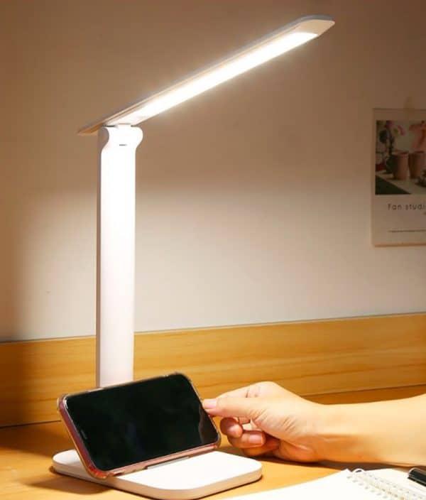 lampe de lecture avec support de smartphone