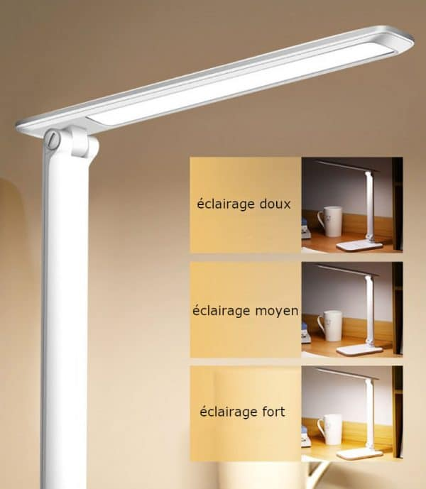 lampe de lecture , les 3 niveaux d'éclairage