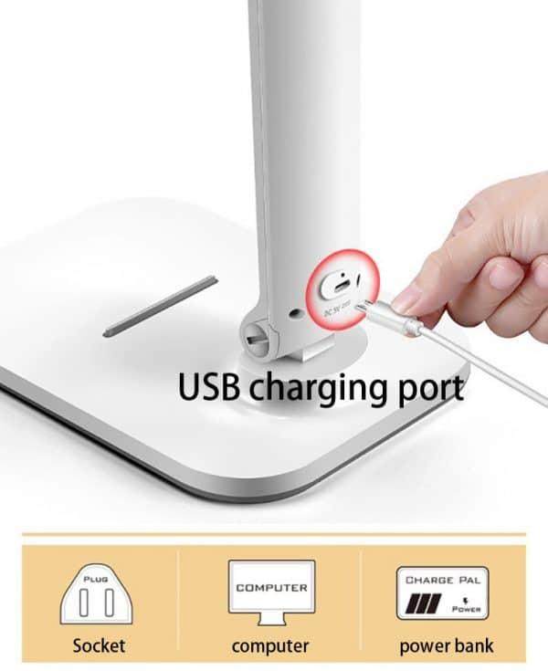 la prise de charge USB de la lampe de lecture
