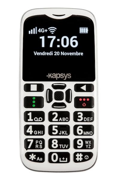 KAPSYS MiniVision2 téléphone grosses touches et gros caractères
