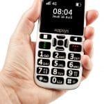 téléphone MiniVision2 téléphone pour séniors, tenu à la  main