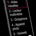 """VOXIONE, écran de 6,4"""", avec gros caractères"""