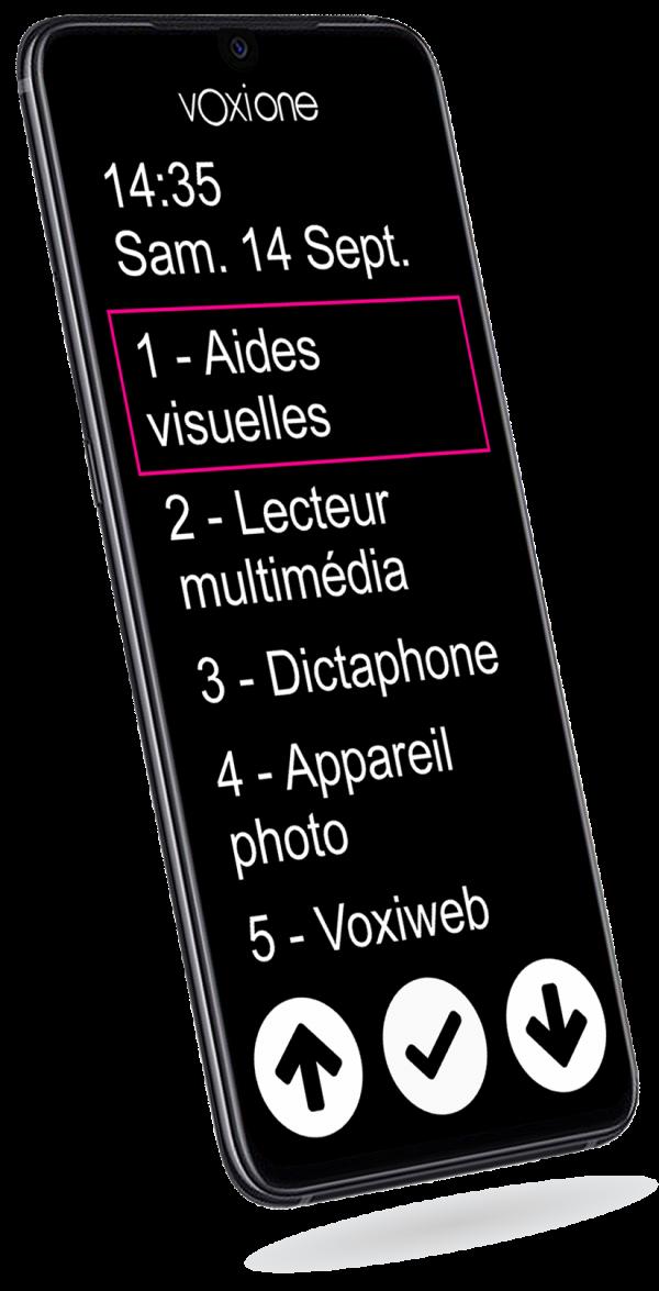 VOXIONE, écran de 6,4'', avec gros caractères