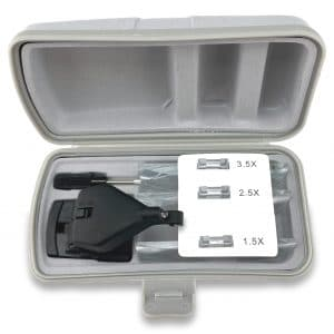 Coffret de la loupe clip pour lunettes à LED